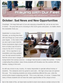 Follow the link to our October e-newsletter.  As usual, if you don't already receive these, you can sign up on the right-hand side of this webpage.