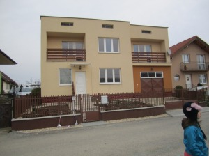 The front of our new home in Kosice.