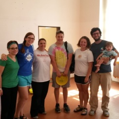 With the Lancaster Family, missionaries at the Art Center in Kosice.