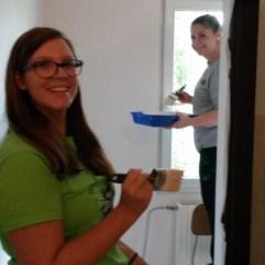 Painting the bathrooms (Roma School in Kezmarok).