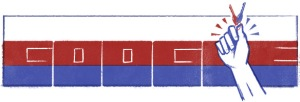 Google gives a nod to the Velvet Revolution in today's Google Doodle.