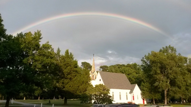 We saw this beautiful rainbow as we arrived in Courtland Monday!
