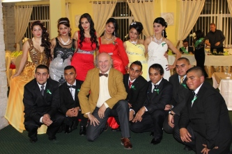 "Jon attended a ""prom"" event for graduating students from the Roma high school in Kezmarok."
