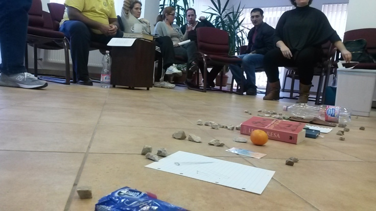 The CHE method involves active and participatory learning. Here we're discussing how to help a community figure out how to begin addressing their own needs.