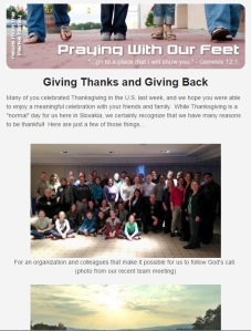 Click the image above to see TODAY'S newsletter - what we're thankful for!