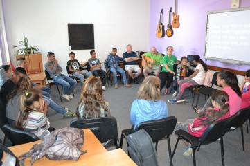 Our boys' and girls' discipleship groups met together to share songs and play games together.